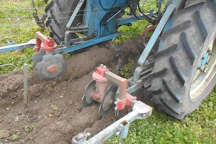 Les travaux des sols au Domaine Sauvète